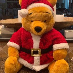 "New Disney Large 20.5"" Winnie the Pooh Plush Santa"